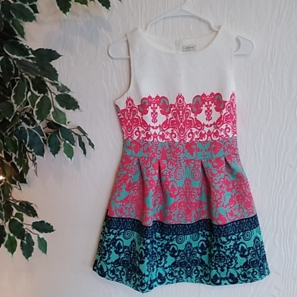sheinside Dresses & Skirts - Adorable brocade style colorful Easter Dress